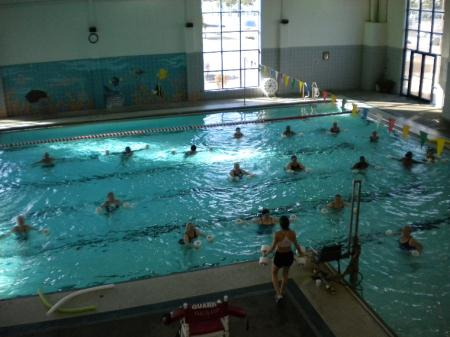 Aquatics Class in Indoor Pool