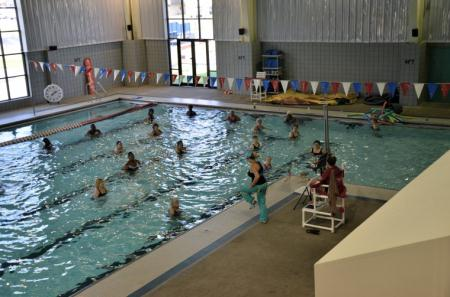 Water Aerobics Class in Swimming Pool