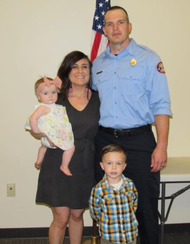 Lt Mcroty and family
